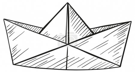 Doodle of paper boat