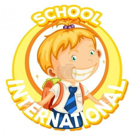 Logo design for international school