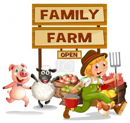 Farmer and farm products