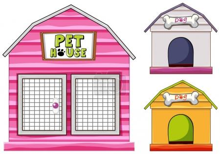 Different design of dog home