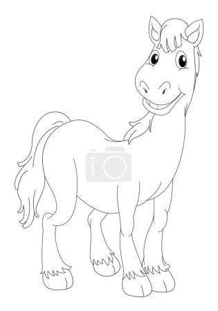 Doodle animal for horse
