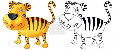 Doodle animal for tiger