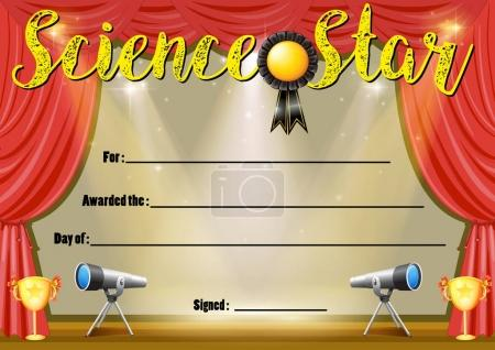 Certificate template for science star