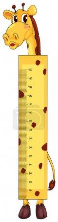 Height measurement chart with giraffe character