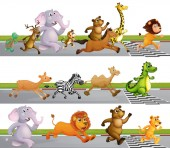 Poster Animals Running Race at Finish