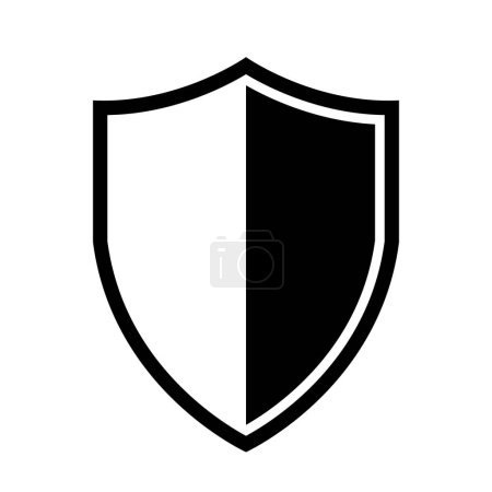 Illustration for Vector Shield icon. Heraldic shields, security black labels. - Royalty Free Image