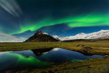 Photo for Spectacular aurora borealis near the glacier lagoon Jokulsarlon in Iceland. - Royalty Free Image