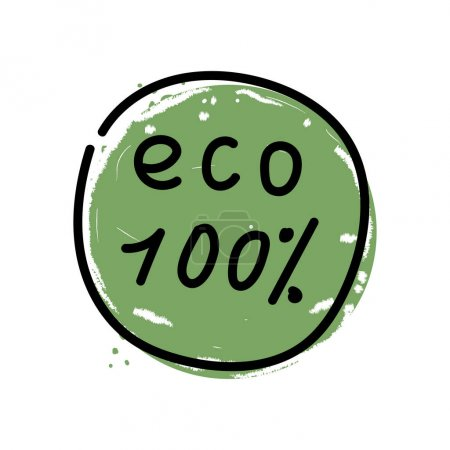 Eco 100 percent vector icon