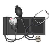 Auscultatory method aneroid sphygmomanometer with stethoscope bulb