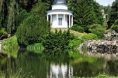 Wonderful small lake in Castle Park of Kassel, Germany