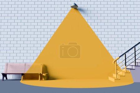 Photo for Billboard mockup Mockup 3d illustration interior emplate,  trend,  trendy,  up,  wall,  white,  work,  workplace  mock,  mockup, - Royalty Free Image