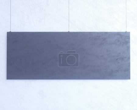 Photo pour Maquette de l'affiche, maquette modèle sur fond blanc isolé, prêt pour votre Design, Illustration 3d. chambre, feuille, signe, espace, modèle, trois - image libre de droit