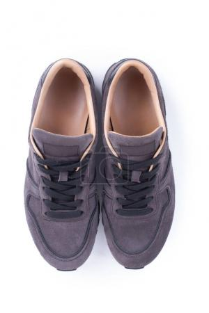 Top view on Suede Sneakers
