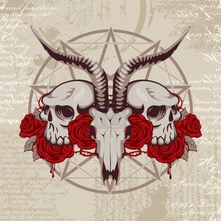goat skull on the background