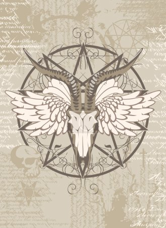 pentagram with the image of