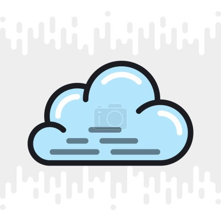 Cloudy, cloudiness or overcast icon for weather fo...