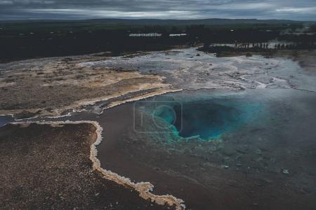 Photo pour Lac thermique Blesi et Strokkur Geysir, parcours du cercle d'or dans le sud de l'Islande - image libre de droit
