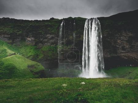 Photo for Majestic landscape with Seljalandsfoss Waterfall on Seljalandsa river, in Iceland - Royalty Free Image