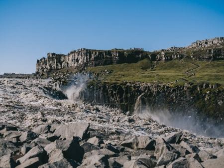 majestic scenery with Dettifoss waterfall in Iceland