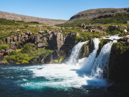 Photo pour La péninsule de Snaefellsnes, chute d'eau et le paysage en Islande - image libre de droit