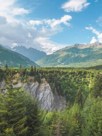 Photo for Majestic landscape with scenic mountains and green vegetation on Georgia - Royalty Free Image