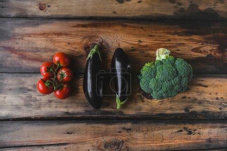 eggplants and broccoli