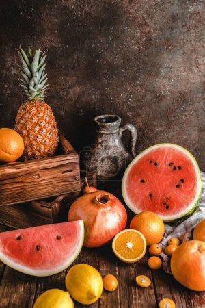 watermelon and pomegranate