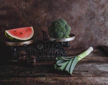 watermelon and broccoli