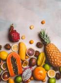 Постер тропические фрукты