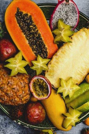 pineapple and rambutans