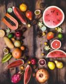 Постер различные фрукты