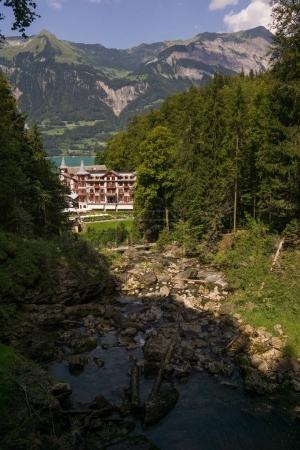 Photo pour Grand Hotel Giessbach, Suisse - image libre de droit