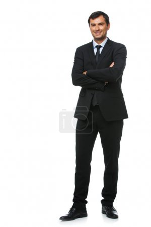 Photo for Handsome businessman in suit isolated on white background. studio sht. copy space. - Royalty Free Image