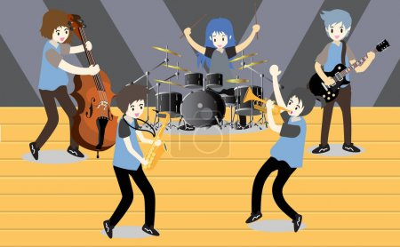 Musicians  band on Stage ,jazz.Pop,Rock,Blues,Metal