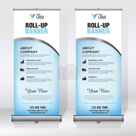 Roll up banner, pull up banner, x-banner, modern v...