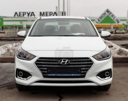 Novokuznetsk, Russia - Mart 25, 2017:  New Hyundai Accent (Solaris)