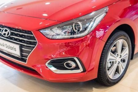 Novokuznetsk, Russia - April 19, 2017: Hyundai Accent (Solaris)