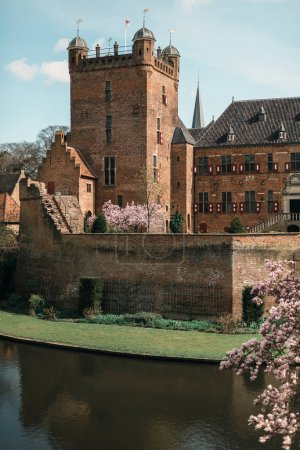Ancient dutch castle with watchtower