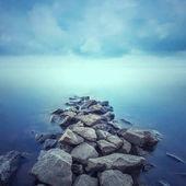 Minimalist Seascape. Coastal Sunrise.