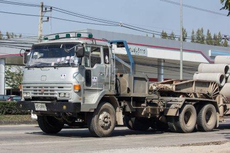 Old Isuzu Trailer Truck of