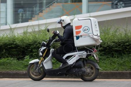 Lazada Express and Logistics Mini Container Motorcycle