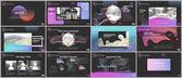 Clean and minimal presentation templates Colorful elements on black background for your portfolio Brochure cover vector design Presentation slides for flyer leaflet brochure report advertising