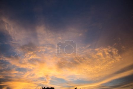 Photo for Colorful sky at sunset. Landscape sky at twilight time. - Royalty Free Image