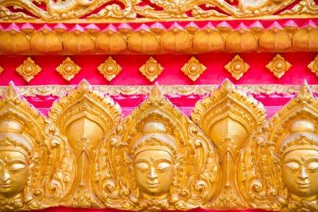 Photo pour Modèle ethnique avec ornement abstrait. thai toit du temple - image libre de droit