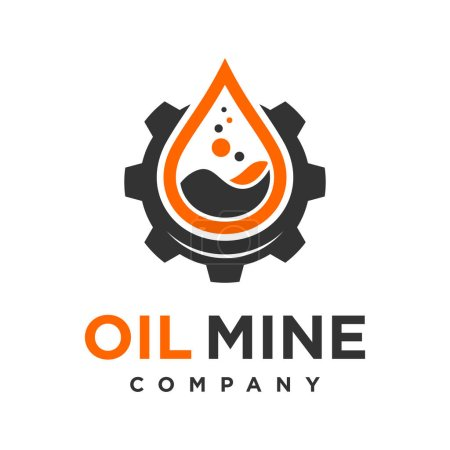 Illustration for Oil mine logo design your company - Royalty Free Image