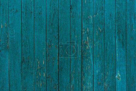 Photo pour Fond de planches de clôture en bois peint en bleu - image libre de droit