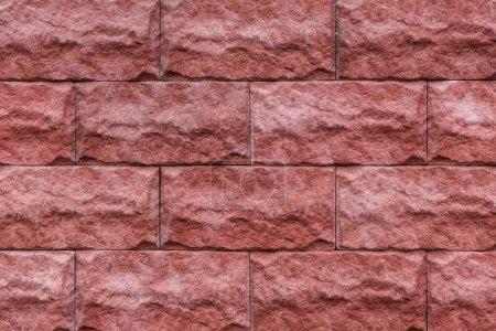 Photo pour Pierre rouge briques texture fond - image libre de droit