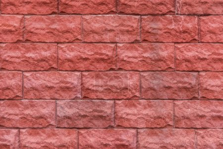 Building wall with red bricks background