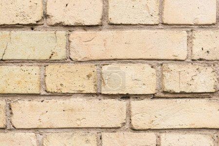 Old broken clay bricks background