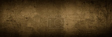 Photo for Dark monochrome slate background. Empty brown concrete stone surface texture. Long banner for web - Royalty Free Image